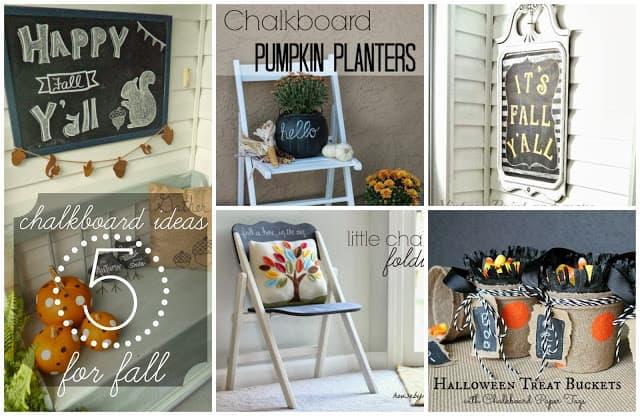 5 Fabulous Chalkboard Ideas for Fall #chalkboard #chalkboardpaint #diy #crafts #fall