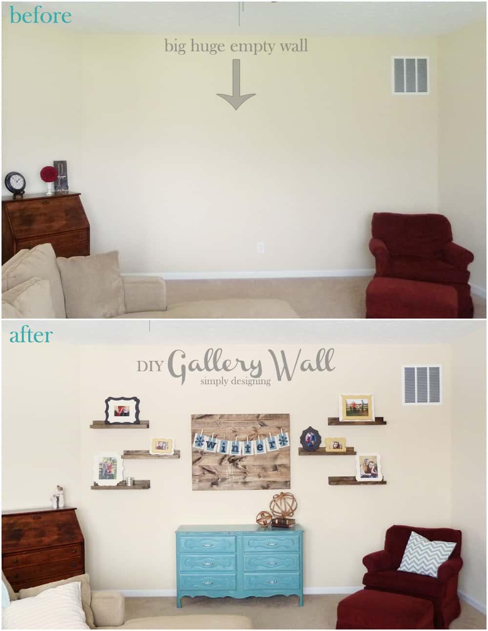 DIY Gallery Wall Reveal | #diy #gallerywall #homedecor