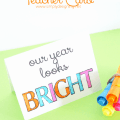 Colorable Teacher Card - just print and color! Perfect for #BackToSchool or #TeacherAppreciation ! #printable #card #teachergift
