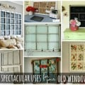 7 Spectacular Uses for Old Windows #oldwindows #vintagewindows #decorating #windows #decor