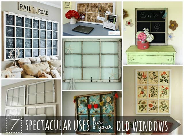 7 Spectacular Uses for Old Windows #oldwindows #vintagewindows #decorating #windows #decor