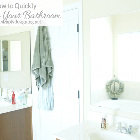 A great way to quickly and affordably upgrade and update your bathroom! | #bathroom #remodel #homedecor #decorating