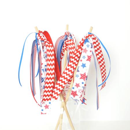 4th of July Ribbon Streamers | #patriotic #4thofJuly #ribbonHOA #kidscraft