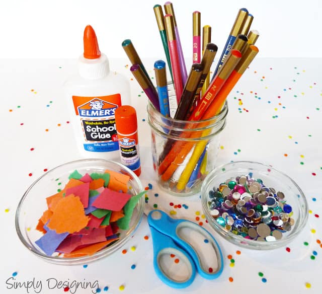 Fun activities for kids at a party for Arts and craft tables