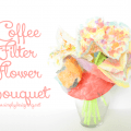 Coffee Filter Flower Bouquet | a really fun kid craft using supplies you may already have at home!  So cute!  Pinning for later | #kidcraft #kidactivity #coffeefilter #paint #craftblogger