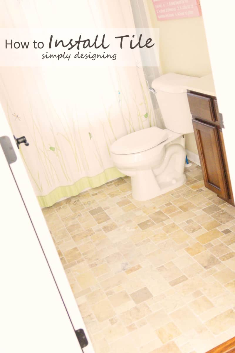 How to Install Tile | a complete tutorial for how to demo, prep, install concrete backer board and install tile | #diy #bathroom #tile #thetileshop @thetileshop