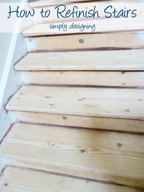 How to Refinish Stairs!  #DIY #stairs #home #remodel #renovation #paint #stain
