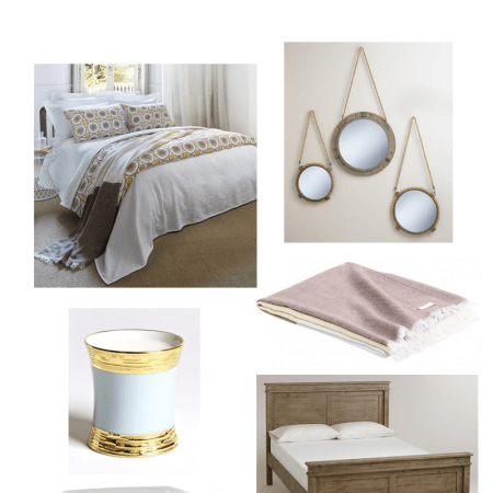 Natural Flax Inspired Bedroom #decor #decorating #moodboard #bedroom #inspiration