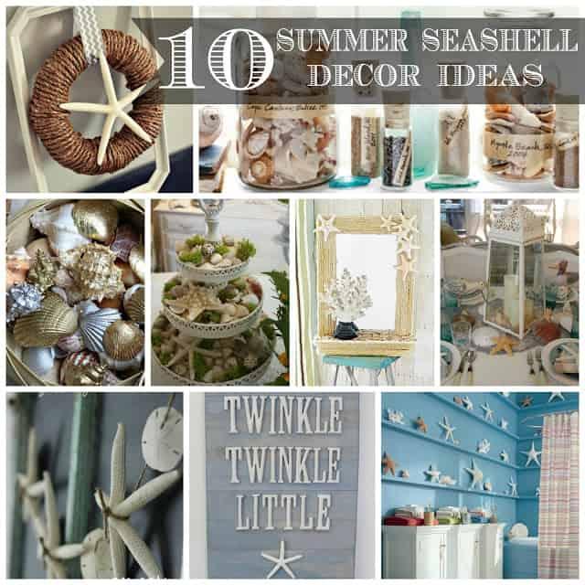 10 Beach House Decor Ideas: 10 Summer Seashell Decor Ideas