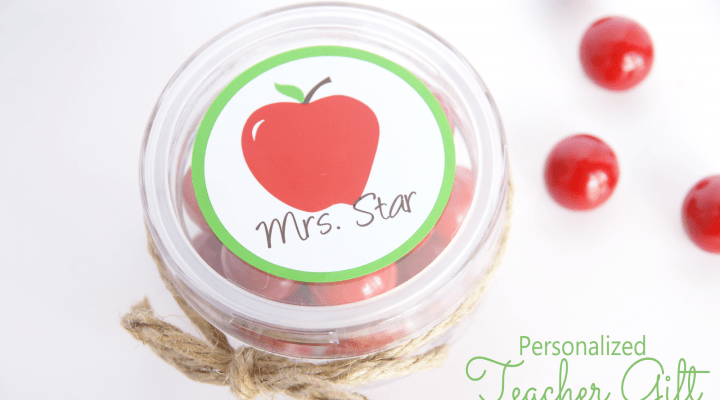 Personalized Teacher Gift + Giveaway