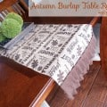 Autumn Harvest Burlap Table Runner | perfect fall or Thanksgiving table decor for a tablescape | #falldecor #thanksgiving #turkeytablescapes #burlap