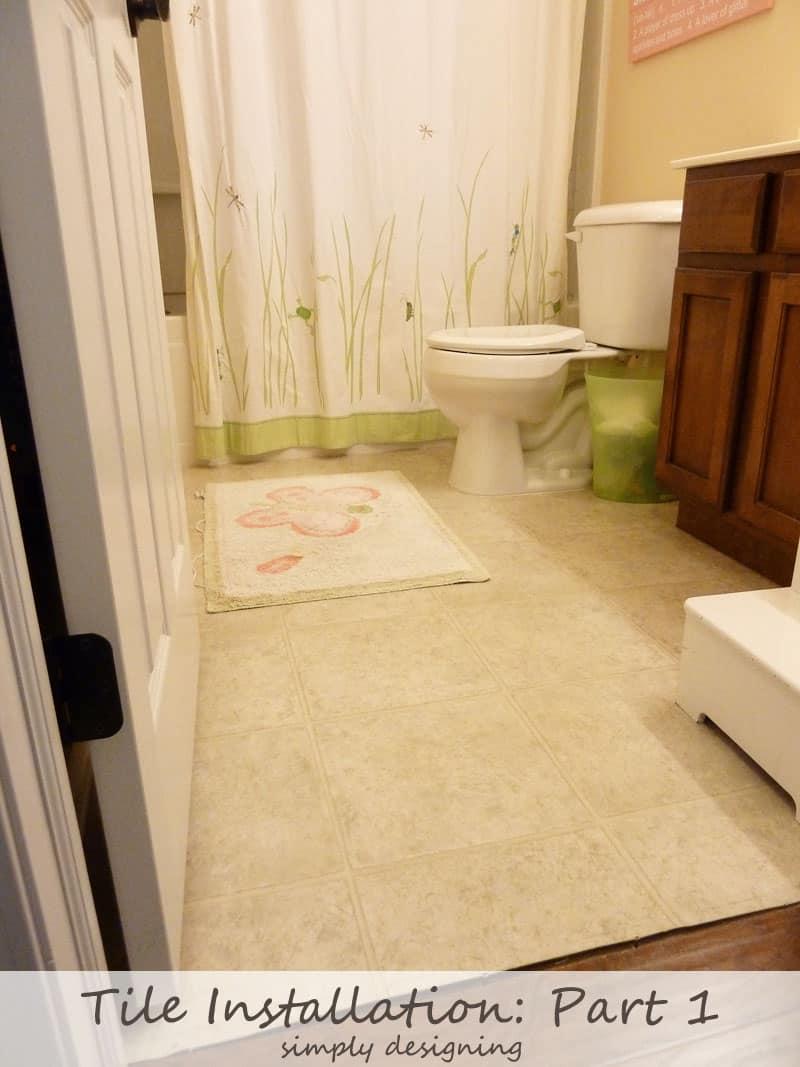 Tile Installation: Part 1 {The Plan and Demolition} #diy #tile #bathroom