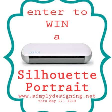 Silhouette Giveaway - come enter to #win a #Silhouette Portrait  #giveaway #spon