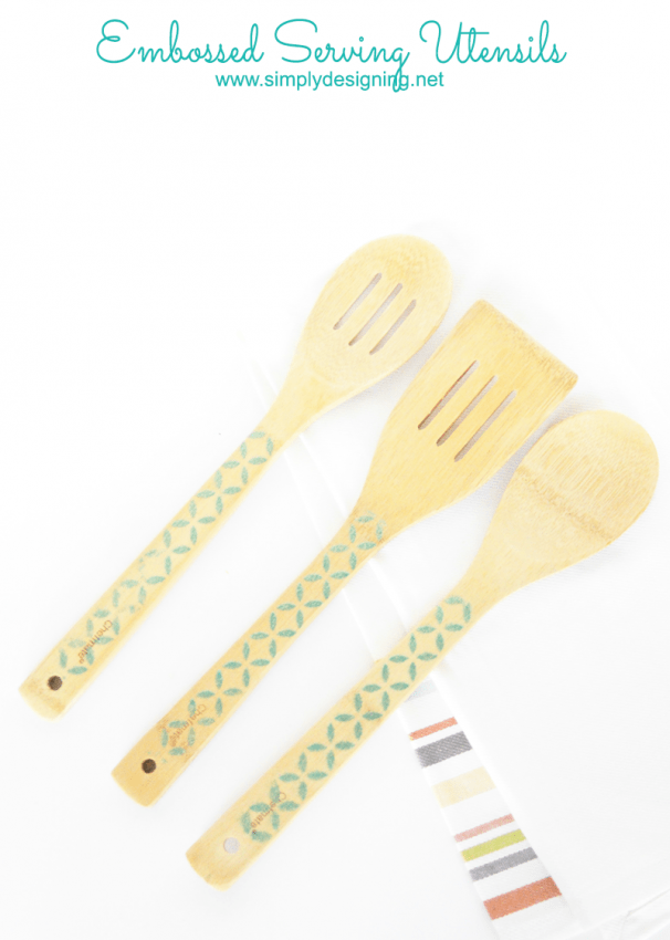 Embossed Serving Wooden Utensils
