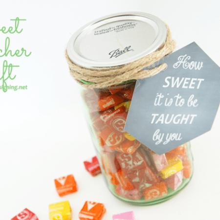 Sweet Teacher Gift and Printable