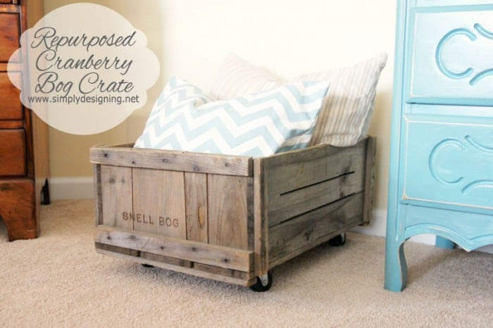 repurposed cranberry bog crate