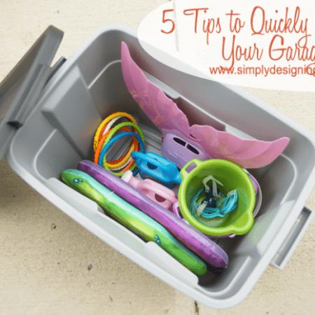 5 Tips to Quickly Organize Your Garage #organize #storage #garage