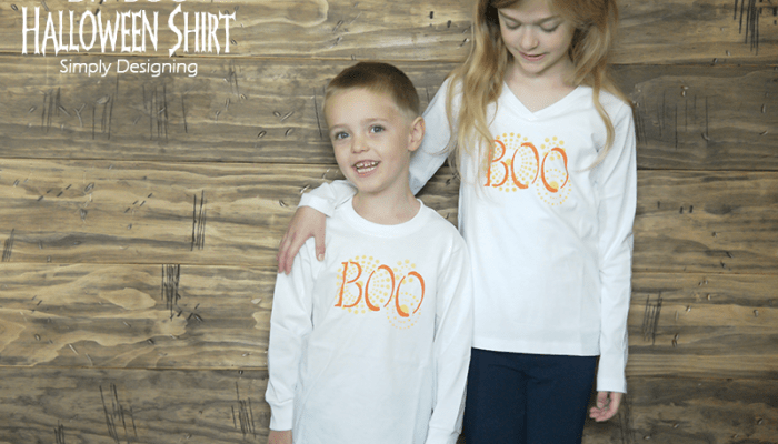 DIY Boo Halloween Shirt