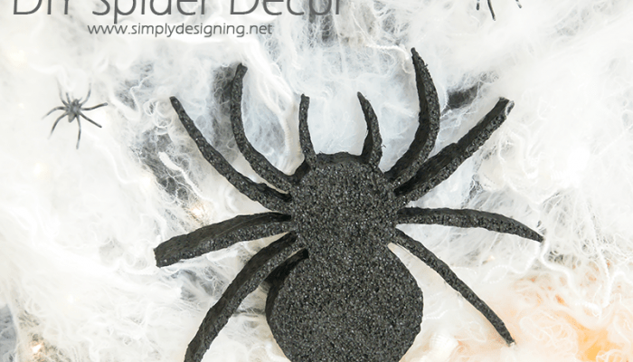 DIY Spider Decor