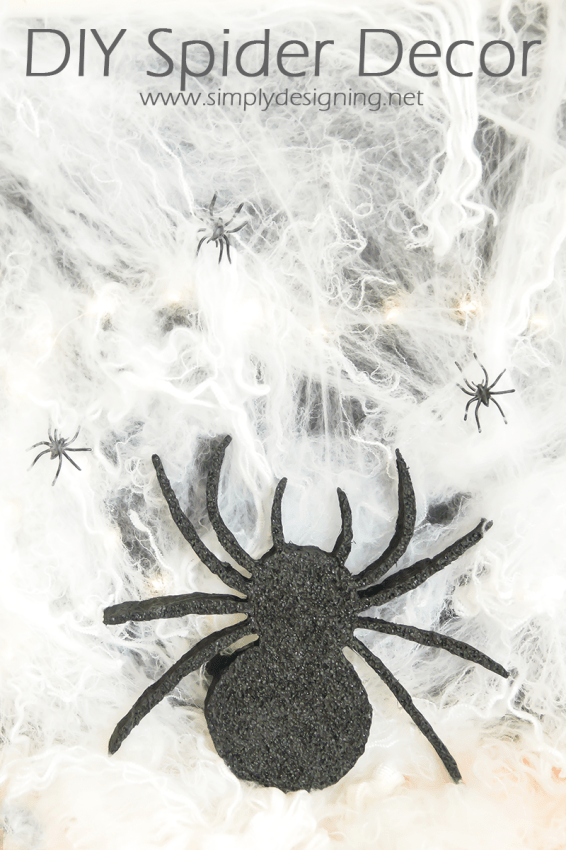 DIY Spider Decoration | #halloween #halloweendecor #crafts #spider