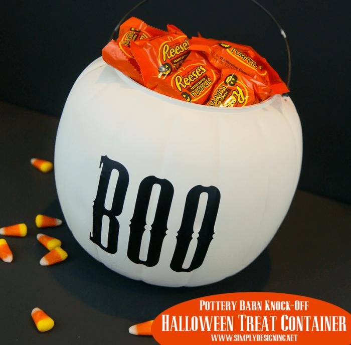 Halloween Treat Container   #halloween #halloweencraft #potterybarnknockoff
