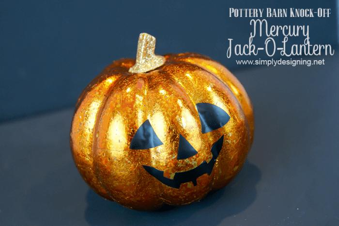 Mercury Jack-O-Lantern Pottery Barn Knock Off | #halloween #fall #crafts #potternbarnknockoff