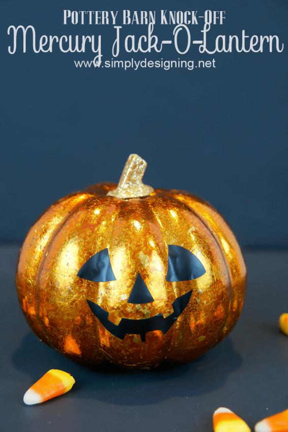 Mercury Pumpkin #halloween #crafts #pumpkin #pbknockoff #fall