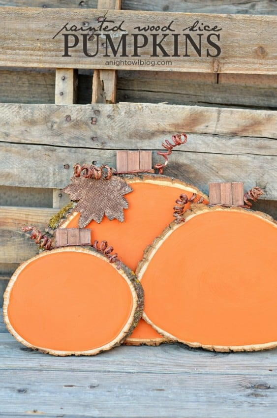 Painted-Wood-Slice-Pumpkins-1