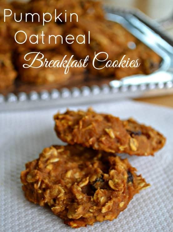 Pumpkin-Oatmeal-Breakfast-Cookies