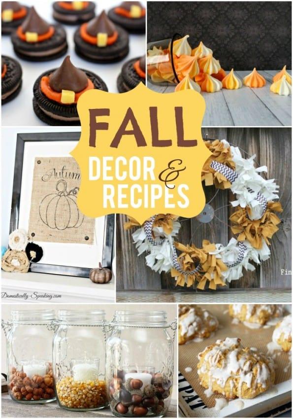 Fall Decor & Recipes  |  #recipes #fall #falldecor #decor #diydecor