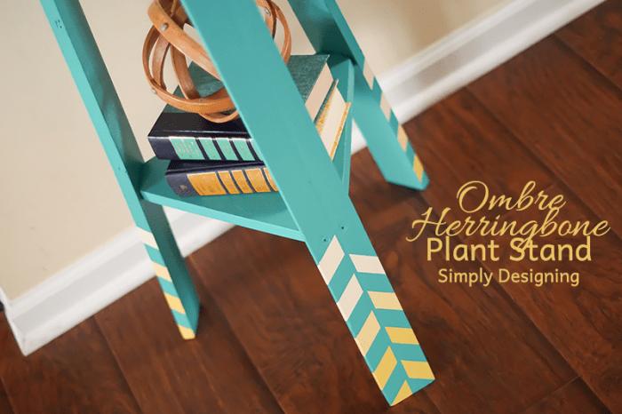 Herringbone Plant Stand