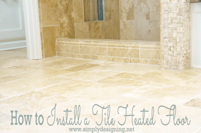 Bathroom Remodel Part 7 How To Install Radiant Heated Tile Floors