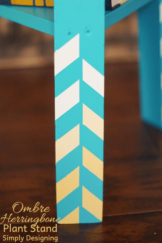 Ombre Herringbone Pattern