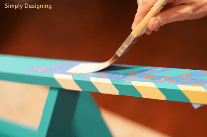 Paint Herringbone Pattern