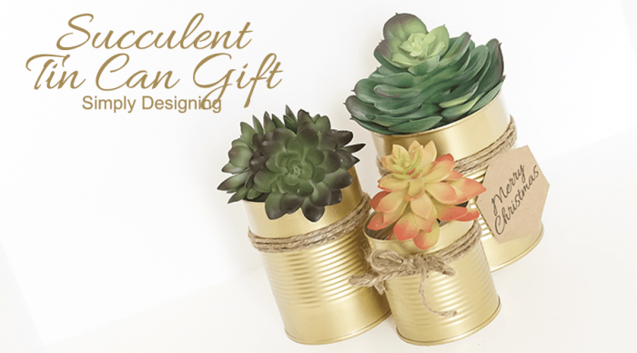 Succulent Tin Can Gift