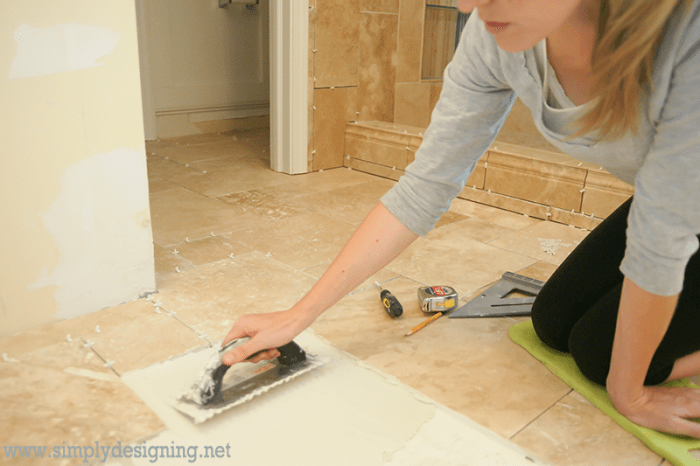 Master Bathroom Remodel Part 7 How To Install Radiant Heated Tile