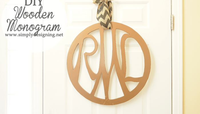 DIY Wooden Monogram