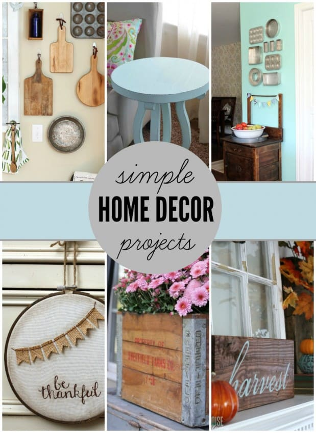 Simple home decor projects for Simple house decoration