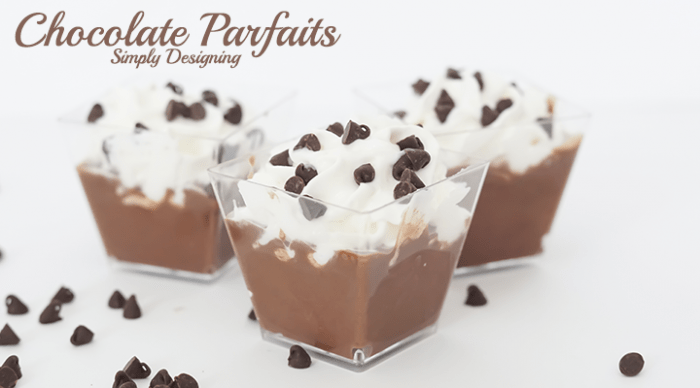 Simple Chocolate Parfait with Chocolate Chips