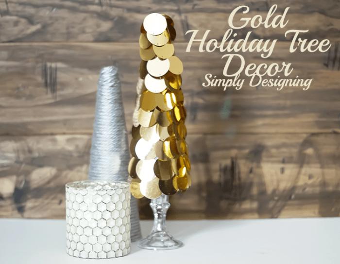 Modern Gold Holiday Tree Decor