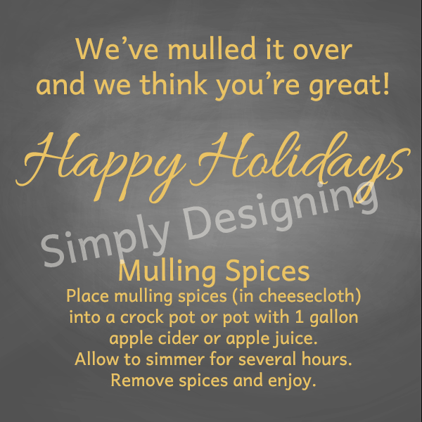 Mulling Spices Tag