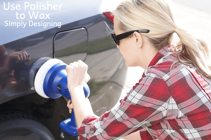 Use polisher to wax out scratches
