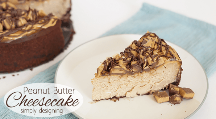 Peanut Butter Cheesecake + Simple Gingerbread Houses