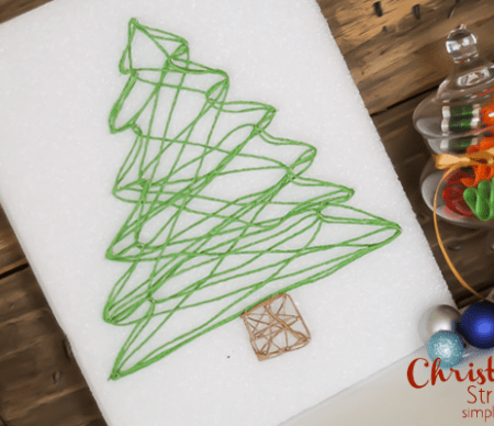 Christmas Tree String Art Featured Image