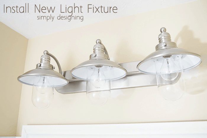 Netnew Light Fixtures : This actually came together quite quickly and the change is really ...