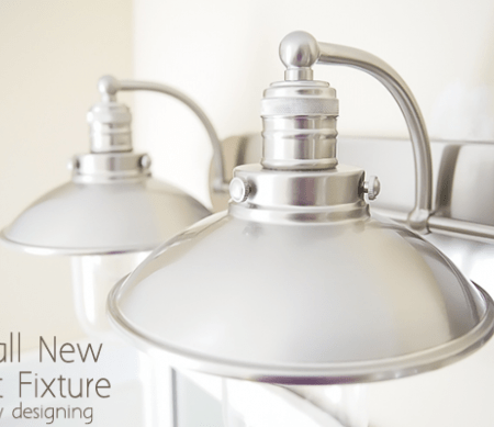 Install a new Light Fixture | this is such a pretty Industrial Bathroom Light