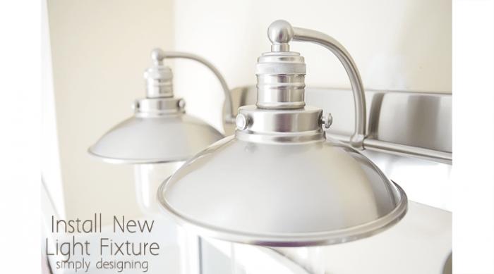 Netnew Light Fixtures : Install a New Bathroom Light Fixture