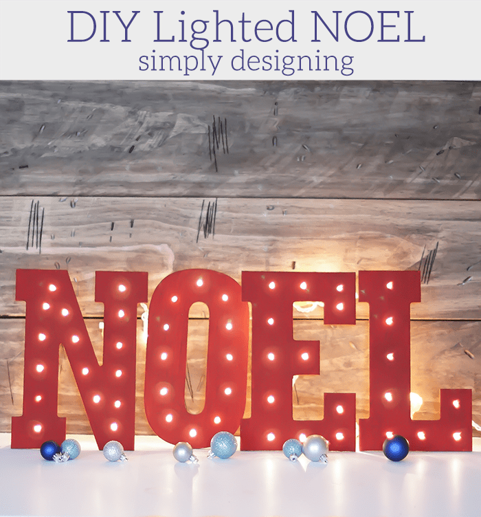 Wooden Lighted NOEL