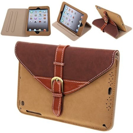 360° Rotating Belt Leather Case Smart Cover Stand for iPad