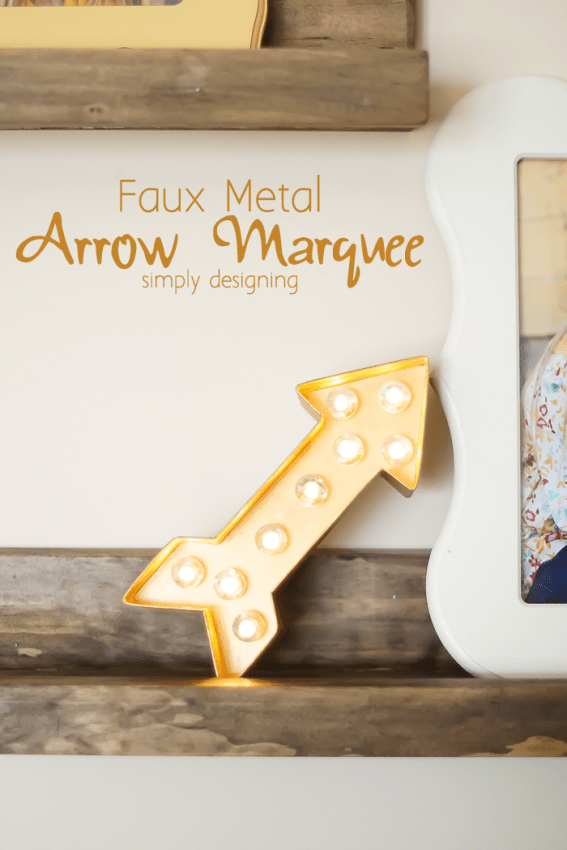 Lighted Arrow Marquee